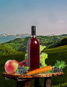 Mix Sok; aronija 20%, cvekla 20%, šargarepa 15%, kupina 15%, jabuka 30% / PREMIUM/ 1l